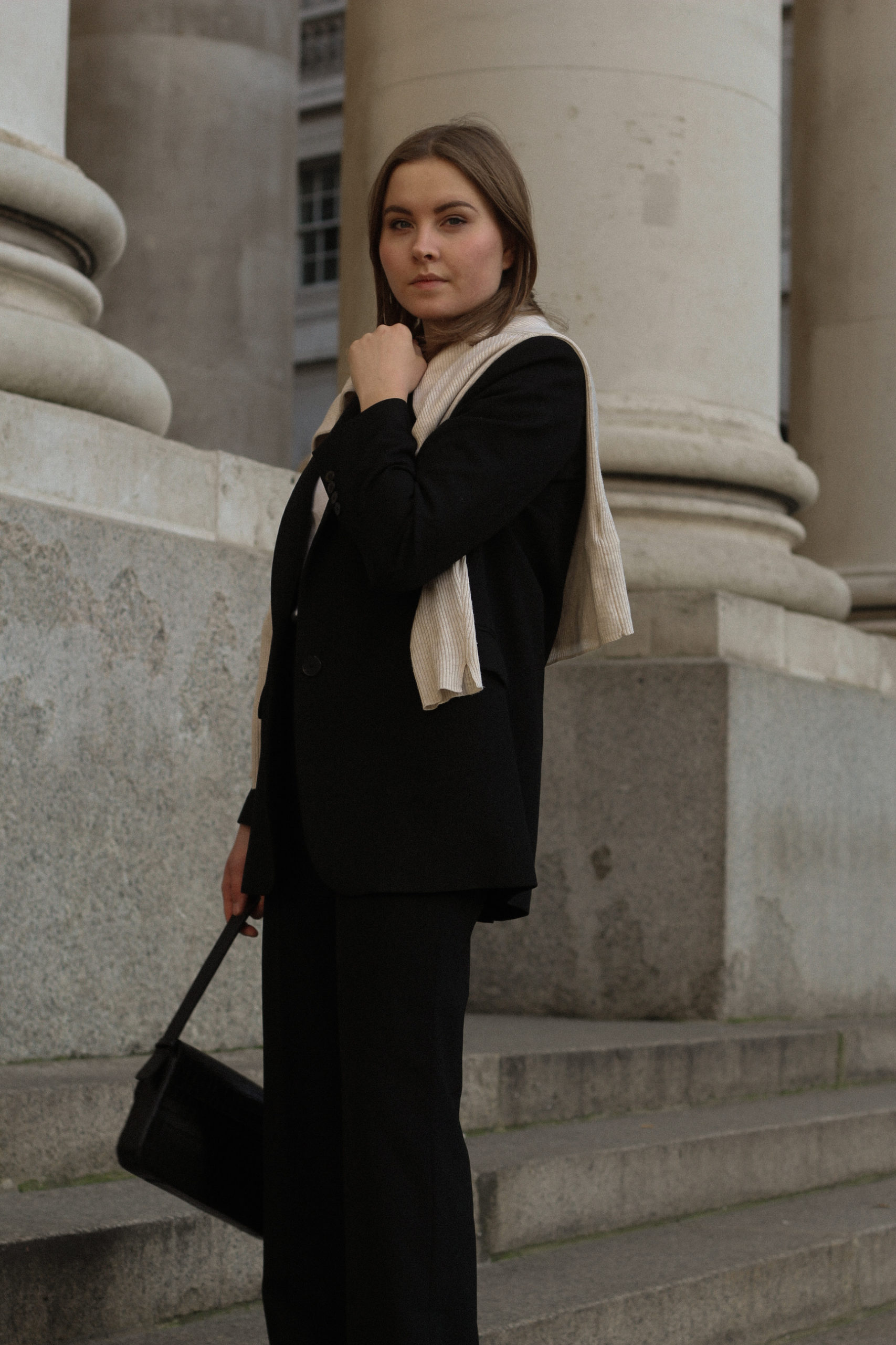 oversized blazer wide trousers outfit